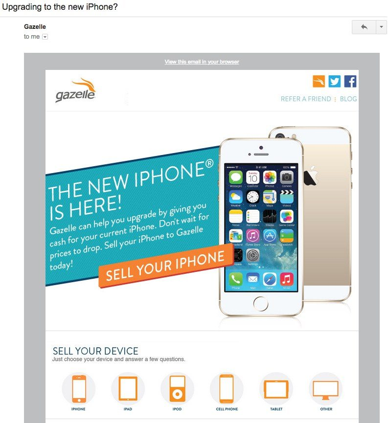 email marketing example