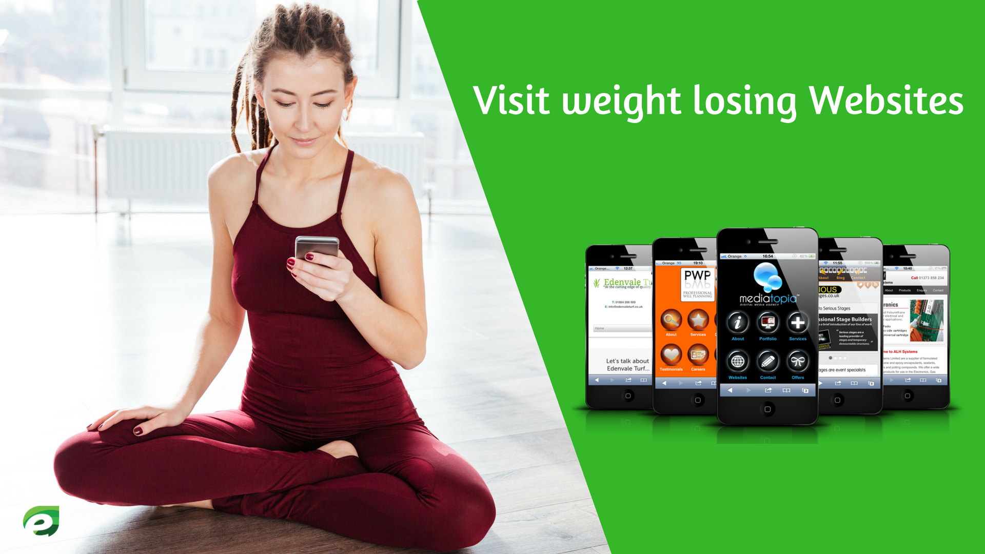 Visit websites - Lose Weight using Phone