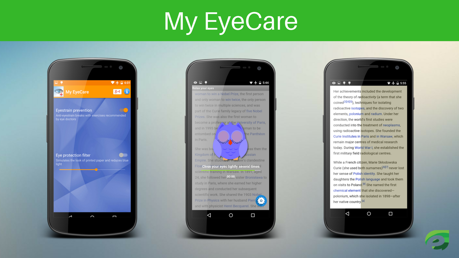 My EyeCare - Eye Protection Apps