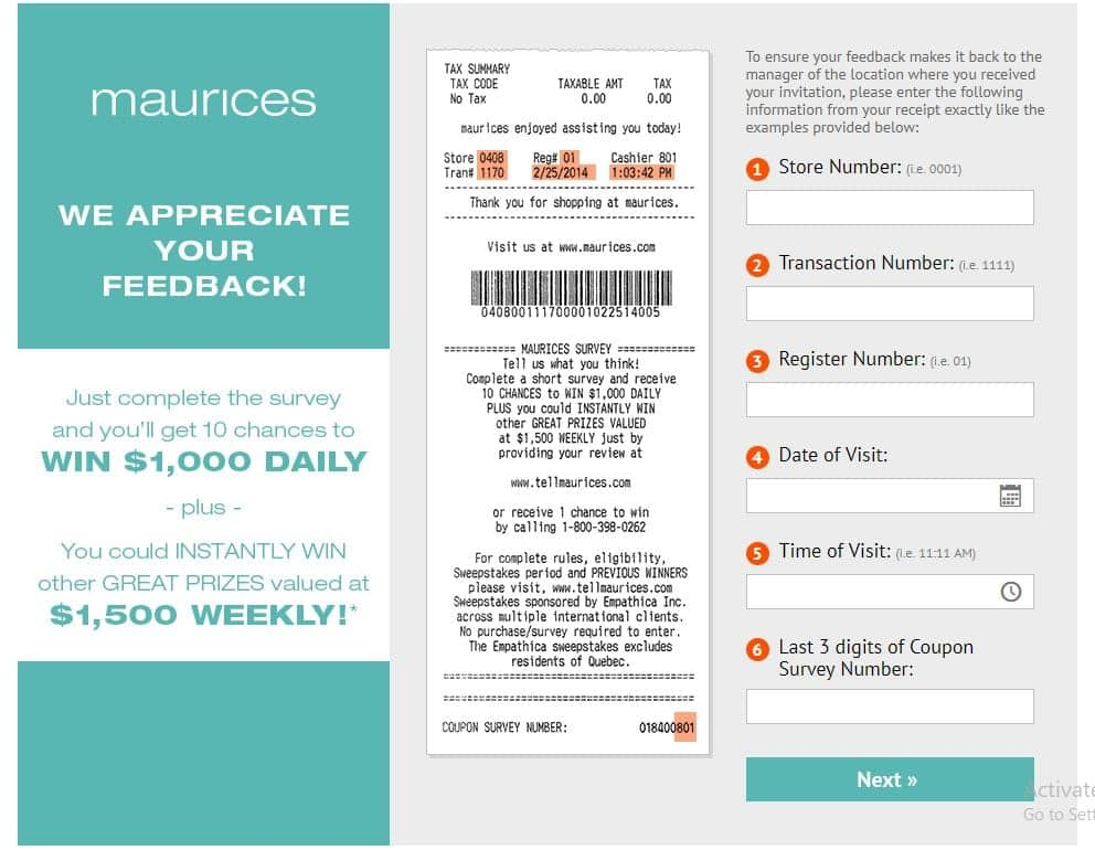 www.tellmaurices.com Survey Guide