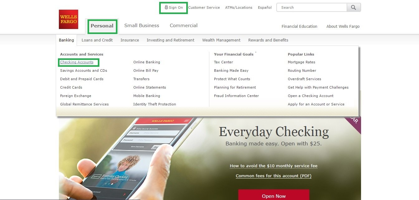 wellsfargo login