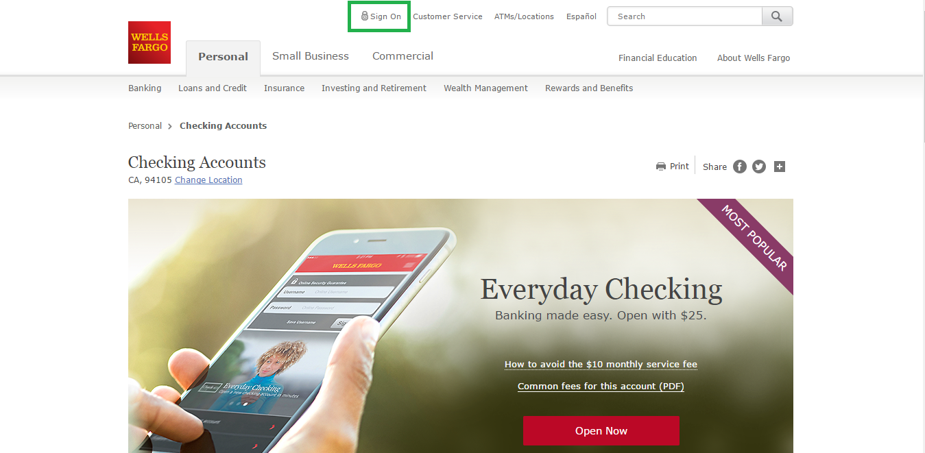 wells fargo car loan login
