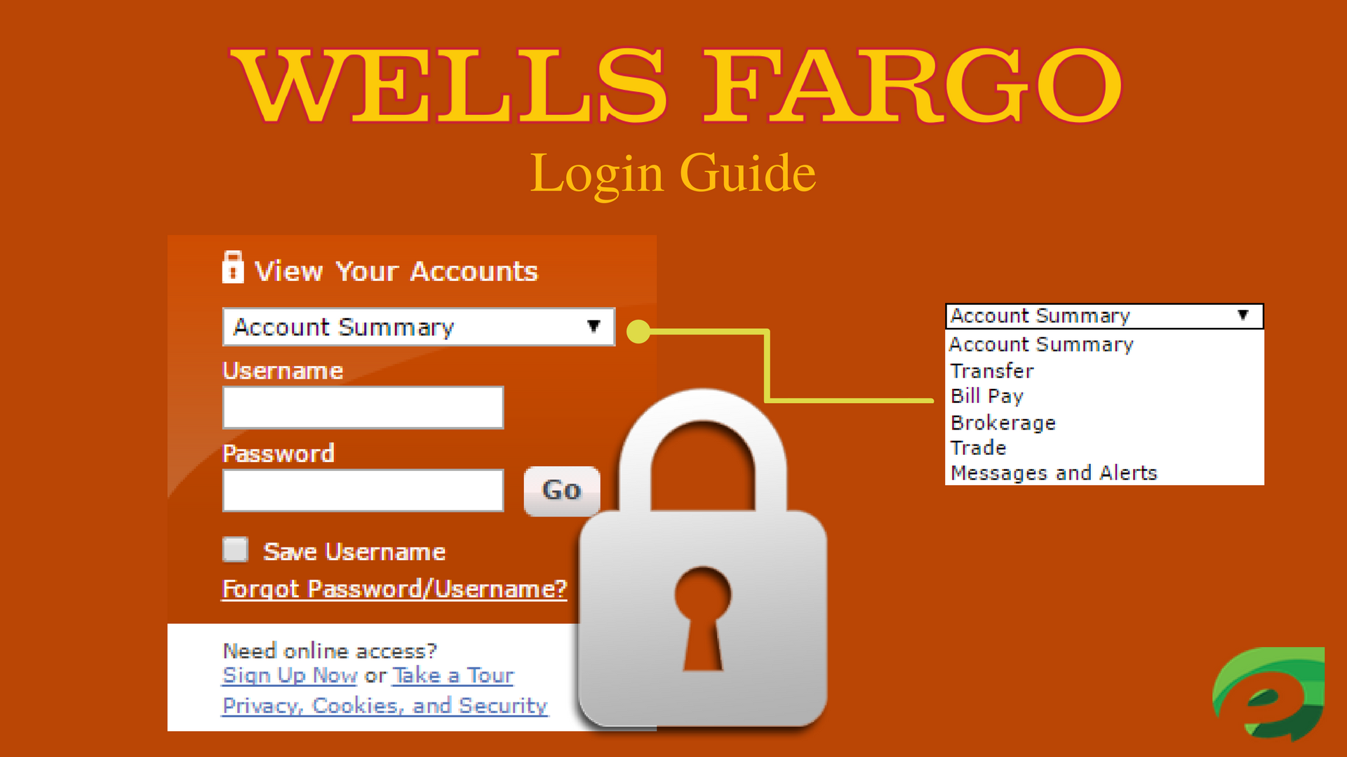 wells fargo login guide