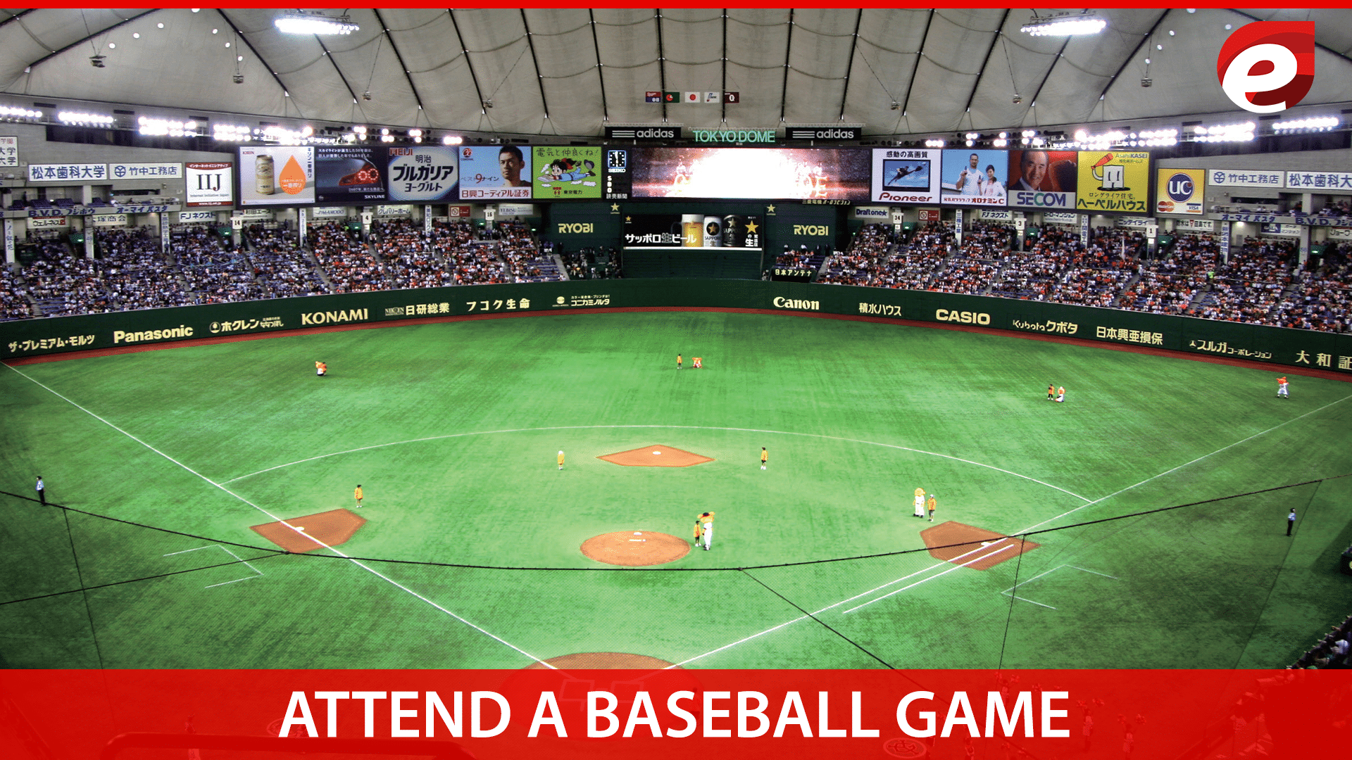 things to do in Tokyo- baseball match